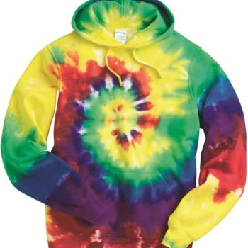 Multi-Color Spiral Pullover Hooded Sweatshirt Thumbnail