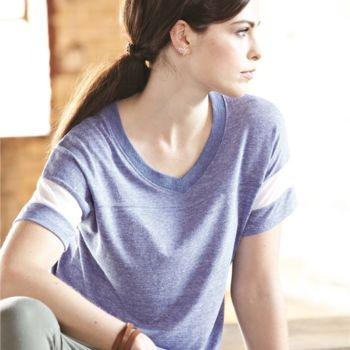Women's Eco-Jersey Powder Puff V-Neck Tee Thumbnail