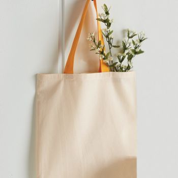 Economical Tote with Contrast-Color Handles Thumbnail