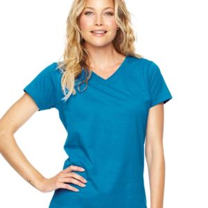 Women's Fine Jersey V-Neck T-Shirt Thumbnail