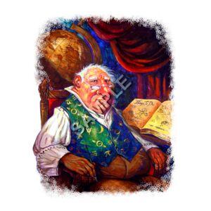 Fantasy Fat Wizard Art